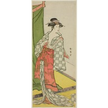 Katsukawa Shunjô: The Actor Segawa Kikunojo as a Courtesan in Summer Attire - シカゴ美術館