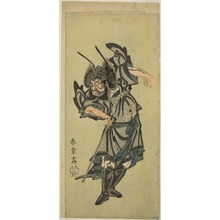 Katsukawa Shunsho: The Actor Ichikawa Danzo III as Shoki the Demon Queller in the Play Date Moyo Kumo ni Inazuma (Dandyish Design: Lightning Amid Clouds), Performed at the Morita Theater from the Fifteenth Day of the Tenth Month, 1768 - Art Institute of Chicago