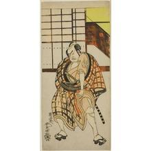 勝川春童: The Actor Nakamura Sukegoro II as Sasano Sangobei in Part Two of the Play Iro Moyo Aoyagi Soga (Green Willow Soga of Erotic Design), Performed at the Nakamura Theater in the Second Month, 1775 - シカゴ美術館