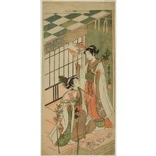 Ippitsusai Buncho: The Shrine Dancers (Miko) Ohatsu and Onami - Art Institute of Chicago