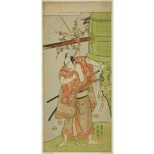 Ippitsusai Buncho: The Actor Ichikawa Yaozo II as Yoshimine no Munesada in the Play Kuni no Hana Ono no Itsumoji, Performed at the Nakamura Theater in the Eleventh Month, 1771 - Art Institute of Chicago