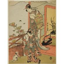 Ippitsusai Buncho: The Actor Onoe Matsusuke I as Oiso no Tora (?) (right), and Otani Taniji (left) - Art Institute of Chicago