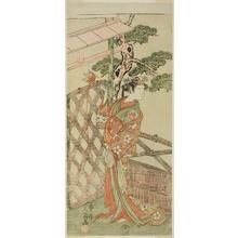 Ippitsusai Buncho: The Actor Yamashita Kinsaku II as Moshio, Wife of Ito Sukekiyo, in the Play Izu-goyomi Shibai no Ganjitsu, Performed at the Morita Theater in the Eleventh Month, 1772 - Art Institute of Chicago