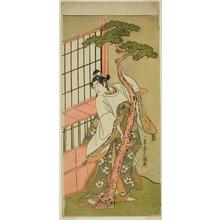 一筆斉文調: The Actor Ichikawa Monnosuke II as Tsunewaka-maru in the Play Iro Moyo Aoyagi Soga, Performed at the Nakamura Theater in the Second Month, 1775 - シカゴ美術館