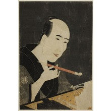 Chokyosai: Portrait of Santô Kyôden, the Master of Kyôbashi (Edo hana Kyobashi natori) - Art Institute of Chicago