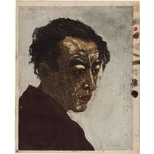 "Onchi Koshiro: Portrait of the Poet Hagiwara Sakutaro (1886–1942), Author of ""Ice Island,"" 1943 - Art Institute of Chicago"