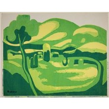 Shinagawa Takumi: Green and Yellow Landscapes - シカゴ美術館