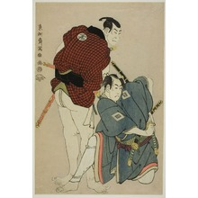 東洲斎写楽: Ichikawa Omezo in the Role of the Sumo Wrestler Ikazuchi Tsurunosuke and Otani Oniji in the Role of Ukiyo Tohei - シカゴ美術館