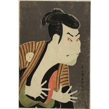 東洲斎写楽: Otani Oniji in the Role of the Servant Edohei - シカゴ美術館