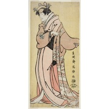 Toshusai Sharaku: The Actor Nakayama Tomisaburo I as Lady Tsukuba, Wife of Yoshioki (Shodai Nakayama Tomisaburo no Yoshioki Midai Tsukuba Gozen) - Art Institute of Chicago