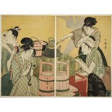 喜多川歌麿: The Kitchen - シカゴ美術館