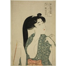 Kitagawa Utamaro: Pipe, from the series Ten Types in the Physiognomic Study of Women (Fujin sogaku juttai) (Kiseru) - Art Institute of Chicago