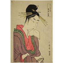 Kitagawa Utamaro: Hinazuru of the Keizetsuro, from the series