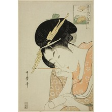 喜多川歌麿: Hanaôgi of the Ôgiya, from the series