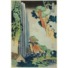 Katsushika Hokusai: Ono Falls on the Kiso Kaido Road (Kisokaido Ono no bakufu), from the series Tour of the Waterfalls in Various Provinces (Shokoku Taki meguri) - Art Institute of Chicago