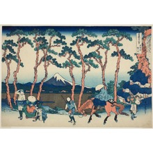 Katsushika Hokusai: Hodogaya on the Tokaido (Tokaido Hodogaya), from the series Thirty-Six Views of Mount Fuji (Fugaku sanjurokkei ) - Art Institute of Chicago