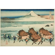 Katsushika Hokusai: The New Fields at Ono in Suruga Province (Sunshu Ono shinden), from the series Thirty-six views of Mount Fuji (Fugaku sanjurokkei) - Art Institute of Chicago