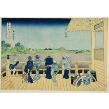葛飾北斎: Sazai Hall at the Temple of the Five Hundred Rakan (Gohyakurakandera sazaido), from the series Thirty-six Views of Mt. Fuji (Fugaku sanjurokkei) - シカゴ美術館