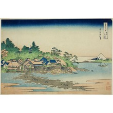 Katsushika Hokusai: Enoshima Island in Sagami Province (Soshu Enoshima), from the series Thirty-six Views of Mt. Fuji (Fugaku sanjurokkei) - Art Institute of Chicago
