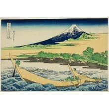 葛飾北斎: Taganoura Bay near Ejiri on the Tokaido (Tokaido Ejiri tagono ura ryakuzu), from the series Thirty-six Views of Mt. Fuji (Fugaku sanjuokkei) - シカゴ美術館