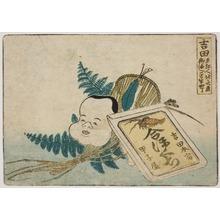葛飾北斎: Illustration of products in Yoshida - シカゴ美術館