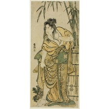 Katsushika Hokusai: The Actor Ichikawa Komazo as a Woman with Dishevelled Hair - Art Institute of Chicago