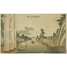 葛飾北斎: Sumida River seen from Azuma Bridge (Azumabashi yori Sumida wo miru no zu), from a group of Western-style landscapes - シカゴ美術館