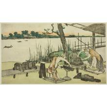 葛飾北斎: Potters at Work - Imado - シカゴ美術館
