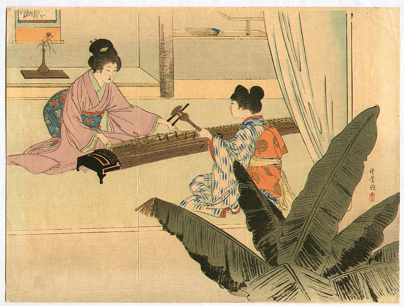одной стороны, история древней японской музыки пожалуйста