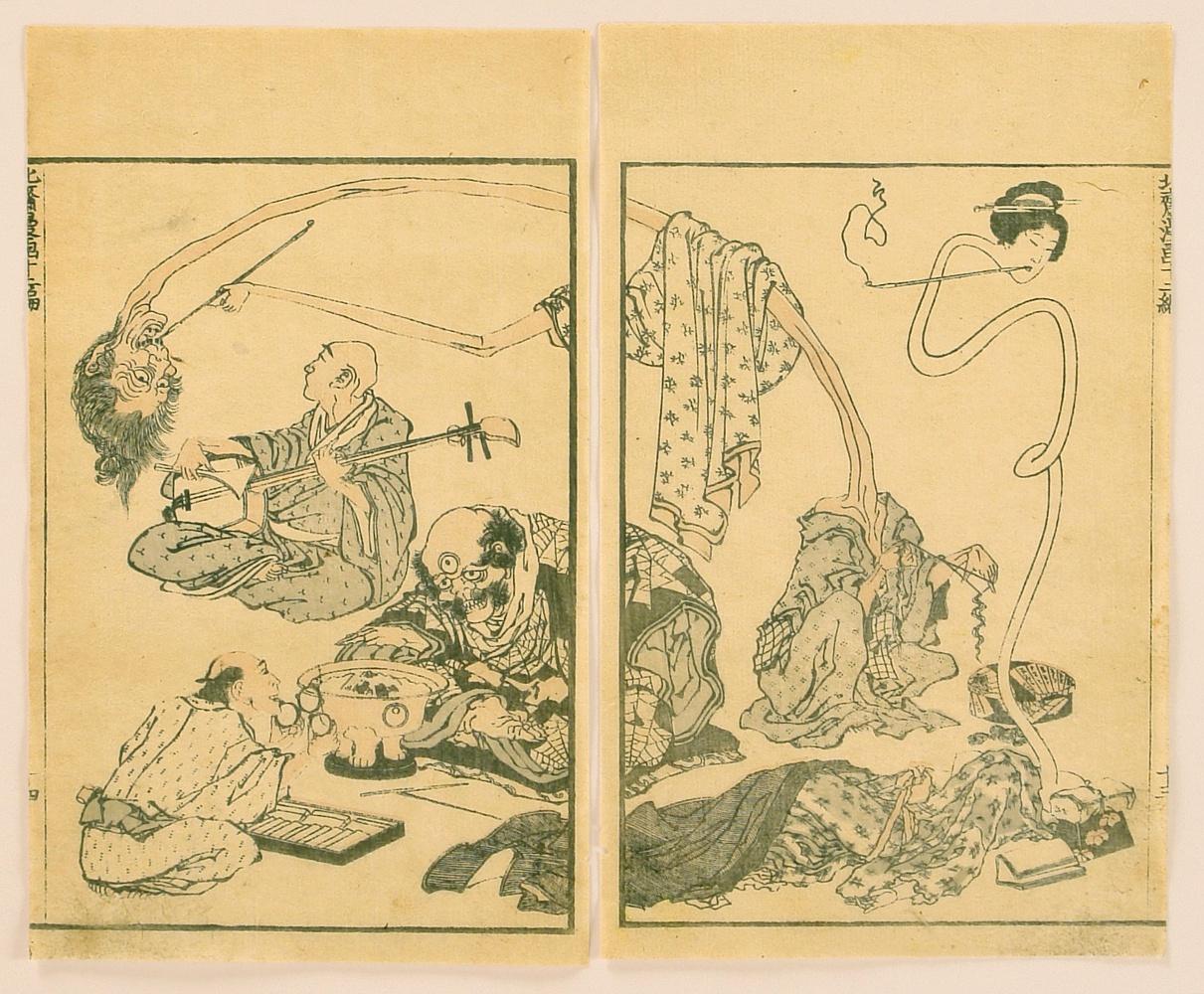 Katsushika Hokusai: Hokusai Manga Vol. 12 - Monsters ...: http://ukiyo-e.org/image/artelino/51677g1