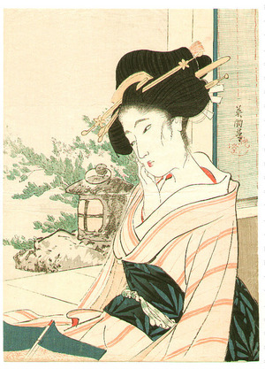 Hirezaki Eiho: Beauty and Garden (kuchi-e) - Artelino