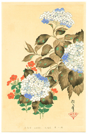 Sakai Hoitsu: Hydrangea - Rimpa School Series - Artelino