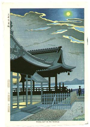 Fujishima Takeji: Moonlight in Mii Temple - Artelino