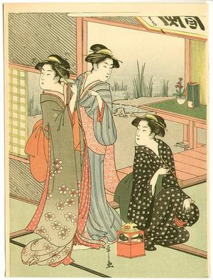 Hosoda Eishi: Three Beauties in a Tea House - Artelino