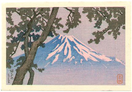 川瀬巴水: Mt.Fuji from Tago (postcard size) - Artelino