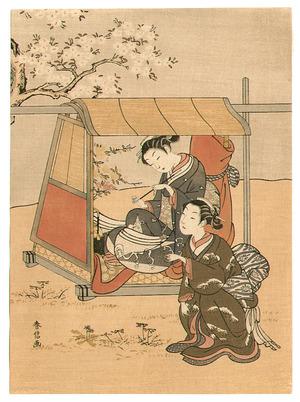 鈴木春信: Two Ladies in the Spring - Artelino