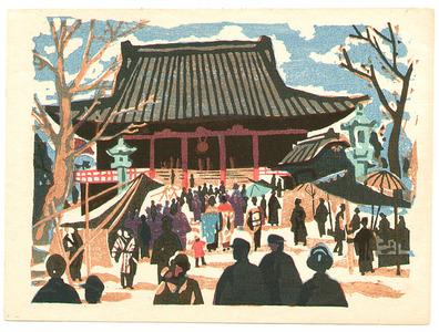 Asai Kiyoshi: Asakusa Kannon-do ( Recollections of Tokyo) - Artelino