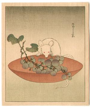 Hosoda Eishi: Mouse and Grapes - Artelino