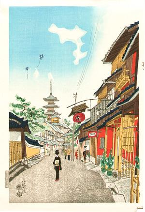 Kotozuka Eiichi: New Year's Day at Yasaka - Artelino