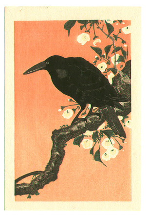 Unknown: Crow against Orange Sky - Artelino