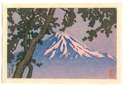 川瀬巴水: Mt. Fuji seen from Tagonoura - Artelino