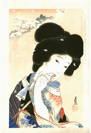 Igawa Sengai: August - Collection of New Ukiyoe Style Beauties - Artelino