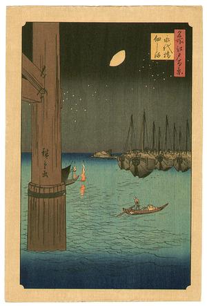 Utagawa Hiroshige: Tsukuda Island - One Hundred Famous Places of Edo - Artelino