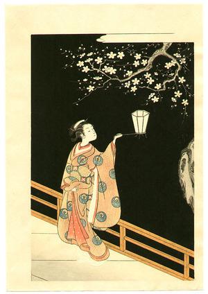 Suzuki Harunobu: Plum at Night - Artelino