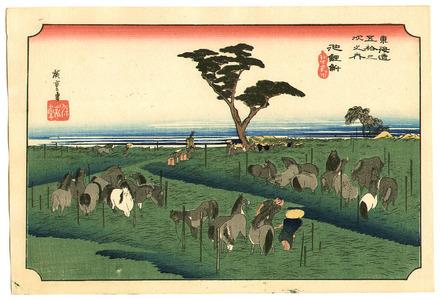 Utagawa Hiroshige: Chiriu - Fifty-three Stations of the Tokaido (Hoeido) - Artelino