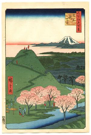 Utagawa Hiroshige: New Fuji, Meguro - One Hundred Famous View of Edo - Artelino