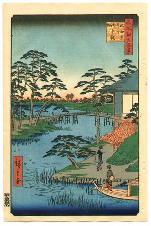 歌川広重: Mokuboji Temple - One Hundred Famous View of Edo - Artelino