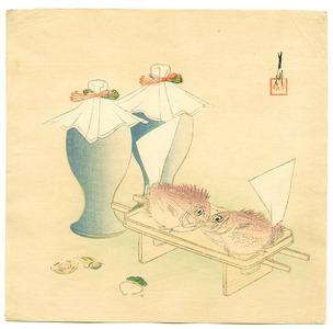Ogata Gekko: Kissing Fish - Artelino
