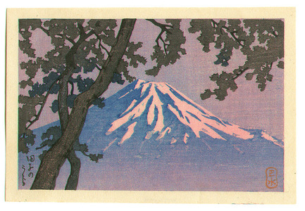 川瀬巴水: Mt. Fuji seen from Tagonoura - purple version - Artelino