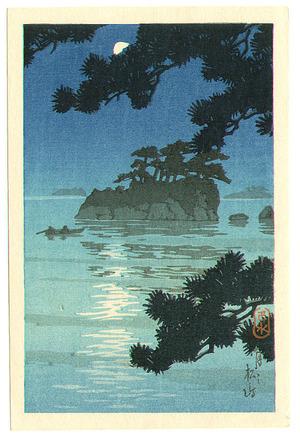 川瀬巴水: Moon at Matsushima - Artelino